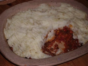 shepherdless pie